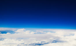 Air view. View from aircraft window before landing Royalty Free Stock Photo