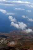 Air view of Canaries Islands Royalty Free Stock Photo