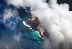 Air view of Canaries Islands Stock Images