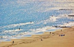 Aerial view coney island beach  new york panorama Royalty Free Stock Photo
