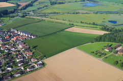 Air view on farm fields Stock Image