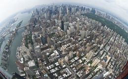 Air view New york. City, wideangle stock image