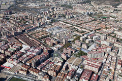 Air view of a residential area in Malaga. Stock Photos