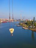 Air view shipyard Stock Images