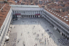 Air view to San Marco square Royalty Free Stock Photography