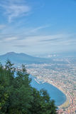 Air view of Vesuvius Royalty Free Stock Images