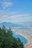 Air view of Vesuvius Royalty Free Stock Images