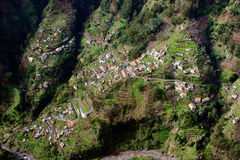 Air view from village Stock Photography
