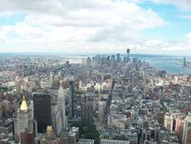 Air Vision of New York City. From the top of the empire State in New York Royalty Free Stock Photography