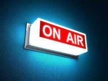 On Air warning message Royalty Free Stock Photos