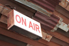 On Air warning message Royalty Free Stock Image