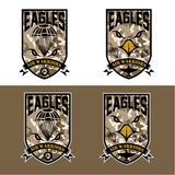Air warrriors army shields set vector design template Royalty Free Stock Images