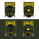 air warrriors army shields set vector design template Royalty Free Stock Photography