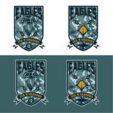 air warrriors army shields set vector design template Stock Photos