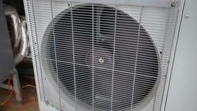 Air water heat pump in winter stock footage