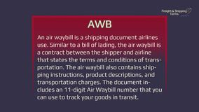 Air waybill - freight and shipping terms the forwarding and logistics industries
