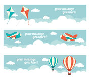 In the Air Website Banners Royalty Free Stock Photos