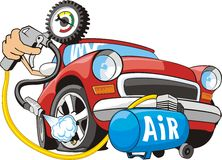 Air for wheel Royalty Free Stock Image