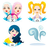 Air Zodiac Women Royalty Free Stock Images