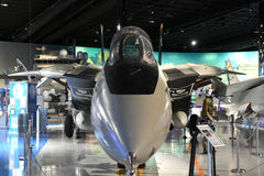 Air Zoo, Kalamazoo, Michigan. Kalamazoo, MI, USA – June 23, 2016: Grumman F-14A on display at the Air Zoo Museum in Kalamazoo, Michigan stock photos