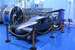 Air Zoo, Kalamazoo, Michigan. Kalamazoo, MI, USA – June 23, 2016: Milner AirCar on display at the Air Zoo Museum in Kalamazoo, Michigan royalty free stock photo