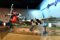 Air Zoo, Kalamazoo, Michigan. Kalamazoo, MI, USA – June 23, 2016: Republic P-47D on display at the Air Zoo Museum in Kalamazoo, Michigan royalty free stock photo