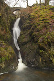Aira Force Falls. Aira Force Waterfall in the Lake District, Cumbria, England Royalty Free Stock Image