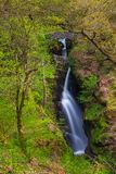 Aira Force Waterfall, Cumbria, England, United Kingdom. Aira Force Waterfall, Lake District, Cumbria, England United Kingdom stock images