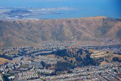 Airal photo of South San Francisco Royalty Free Stock Photo