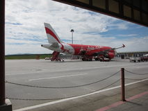 AirAsia aeroplane Royalty Free Stock Photos