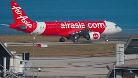 AirAsia Airbus A320 taxiing stock video