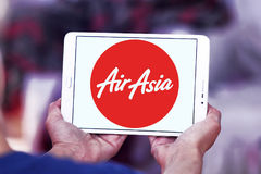 Airasia airlines logo. Logo of airasia airlines on samsung tablet Royalty Free Stock Photography