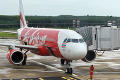 AirAsia Airplane Royalty Free Stock Image