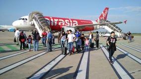 AirAsia Arrival plane Royalty Free Stock Photos