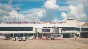 AirAsia chez Chiang Mai International Airport Photo libre de droits