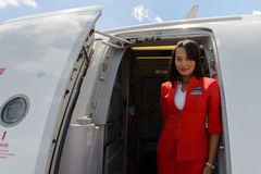 Airasia crew member Royalty Free Stock Image