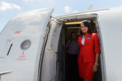 Airasia crew member Stock Photo