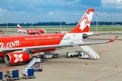 AirAsia em Banguecoque, Tailândia Imagem de Stock