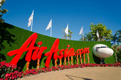 AirAsia on the exhibition Stock Image