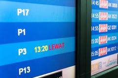 AirAsia migra a tabela do embarque Imagem de Stock Royalty Free