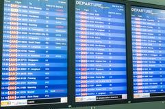 AirAsia migra a tabela do embarque Imagem de Stock