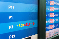 AirAsia migra a tabela do embarque Imagens de Stock