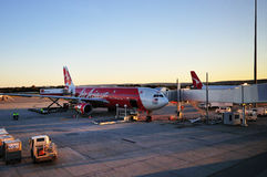 AirAsia plane Asia's low cost budget Royalty Free Stock Photography