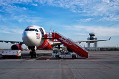 AirAsia plane Royalty Free Stock Photography