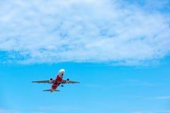 AirAsia plane takes off Royalty Free Stock Photo