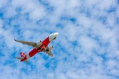 AirAsia plane takes off Royalty Free Stock Image
