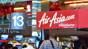 AirAsia sales counter Royalty Free Stock Images
