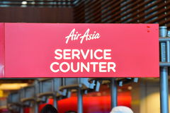 AirAsia service counter Royalty Free Stock Photos