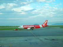Airasia flight. Airasia is willing to take off to Kuala Lumpur from the city Stock Photography