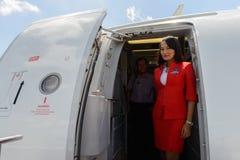 Airasia załoga członek Zdjęcia Stock
